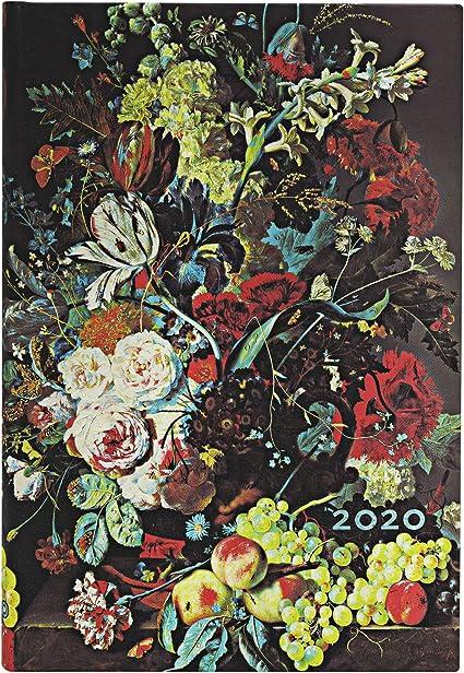 Persimone  Horizontal Paperblanks 12-Monatskalender 2020 140 x 95 mm Mini