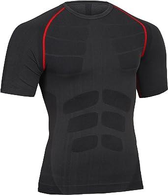 Bwiv Camisetas de Manga Corta para Hombres de Compresión Camiseta de Fitness Ropa Deportiva Hombres Running Ciclismo: Amazon.es: Deportes y aire libre