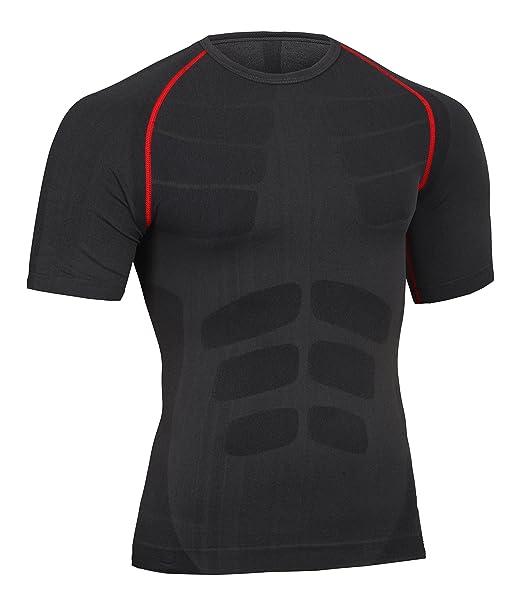 Bwiv Camiseta de Compresión de Manga Corta Hombre Camisetas Deportivas para  Hombres Secado Rápido Elástico Transpirable Running Ciclismo 3 Colores Talla  M ... 537c08cd0138e