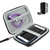 Hard Shell iPod Portable Travel Case for Apple iPod Touch ( 7th , 6th, 5th Generation ) iPod Nano with Protective EVA Design , Weather Resistant Exterior , Wrist Strap by USA Gear - Black
