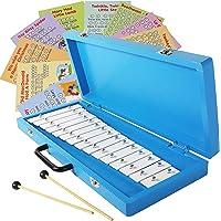 Glockenspiel 15 Note Xylophone in Wooden Case - Easy Play Songs Included