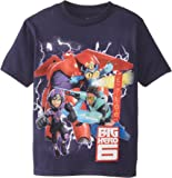 Disney Boys' Big Hero 6 Hiro and Baymax T-Shirt