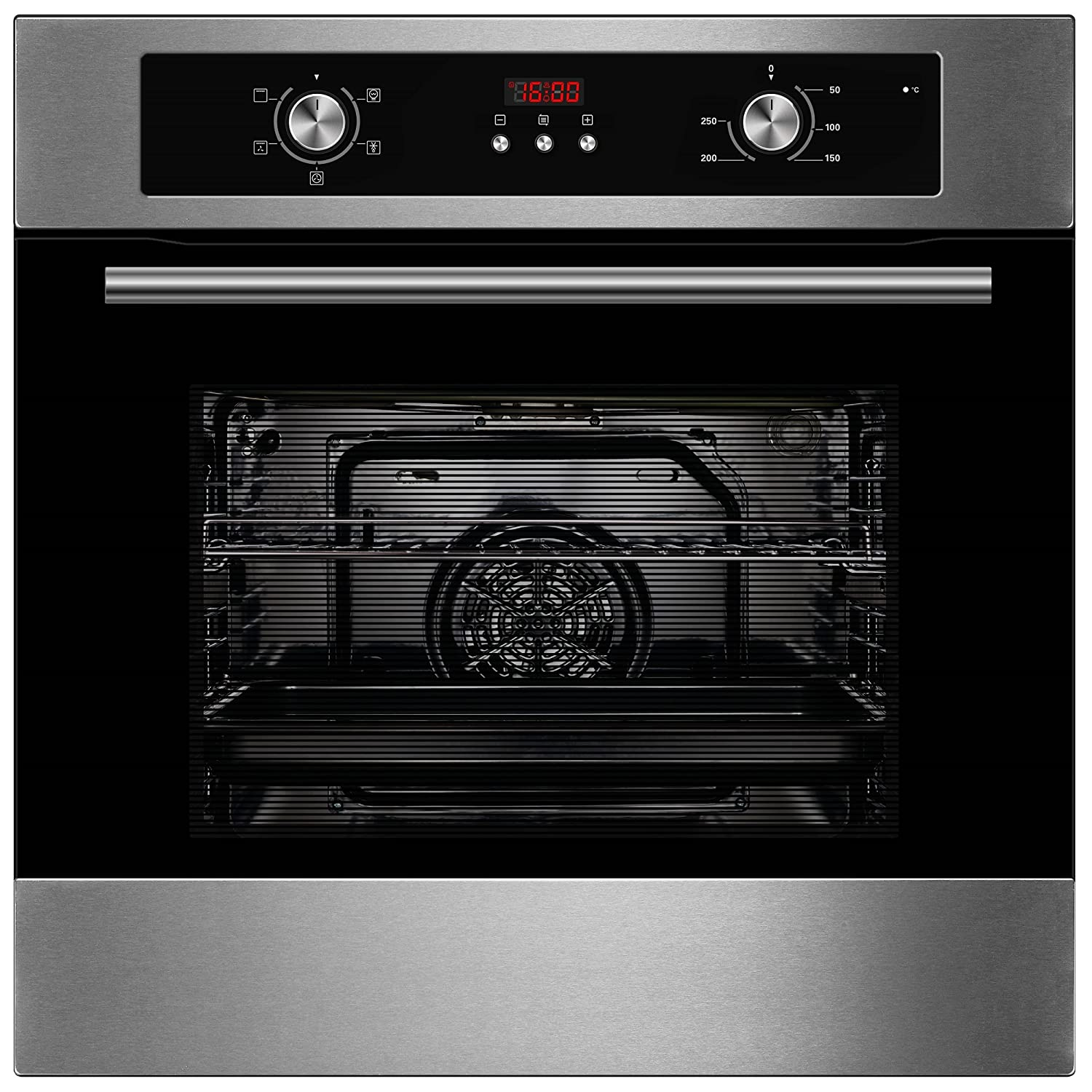 Cookology Built-in Electric Single Fan Oven in Stainless Steel with Programmable Timer & Digital Clock | COF605SS [Energy Class A]