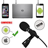 Professional Voice Recording Lavalier Lapel Microphone for Vlogs, Smartphones,Tablets, Apple iPhone, & DSLR Cameras! Best, Clip-On Lapel Microphone with FREE EXTRAS!