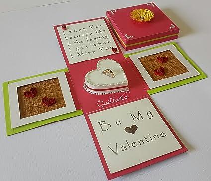Caja de regalo 3D hecha a mano de San Valentín para anillo de compromiso (10