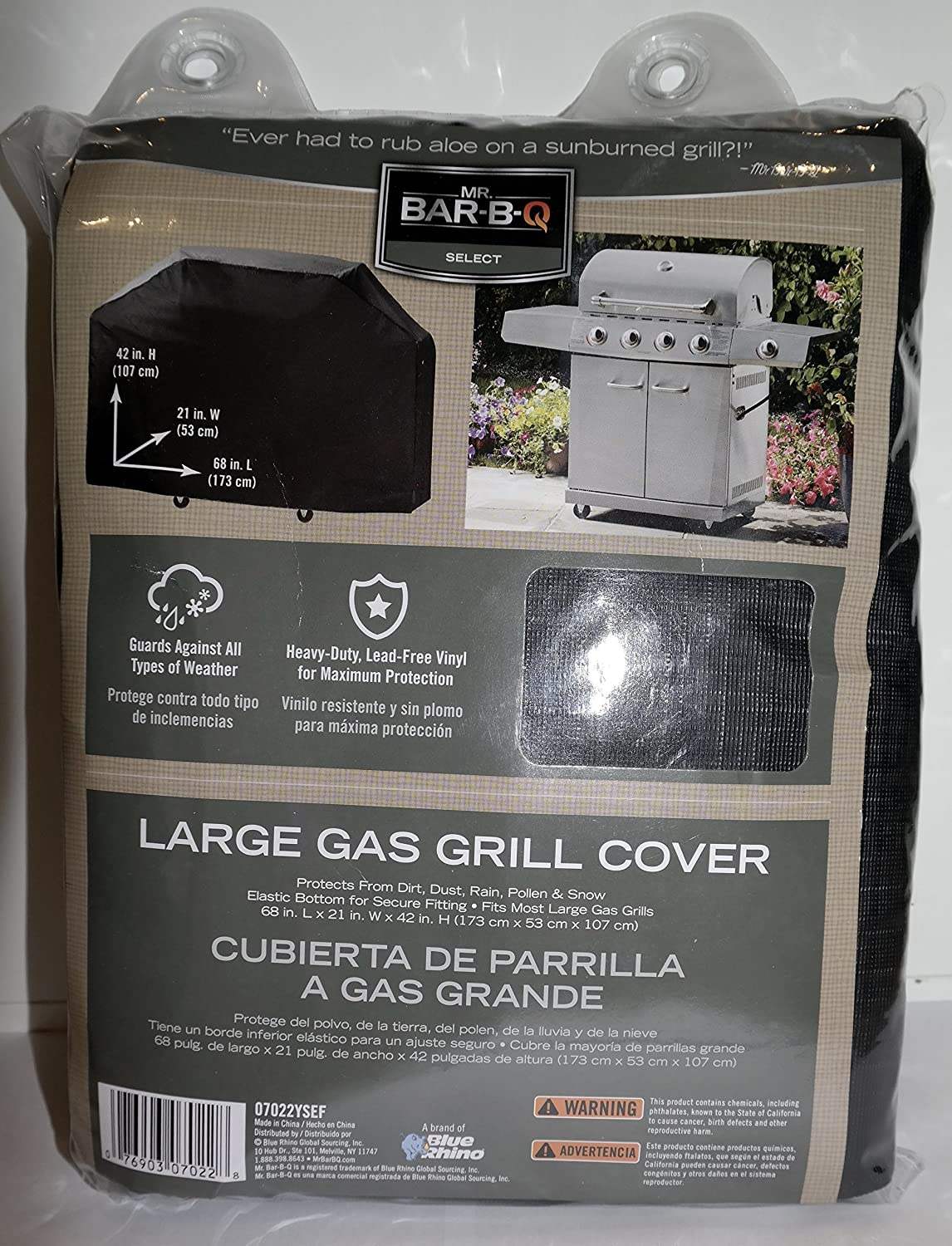 Mr. Bar-BQ Premium Gas Grill Cover, Full Length, Black