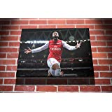 Thierry Henry Arsenal Football Gallery Framed Canvas Art Picture Print