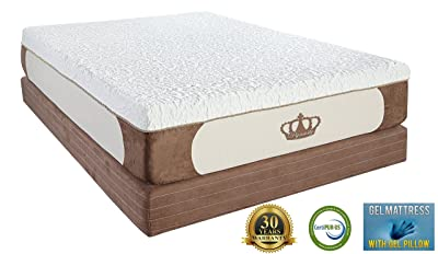 DynastyMattress Cool Breeze 12-Inch Gel Memory Foam Mattress