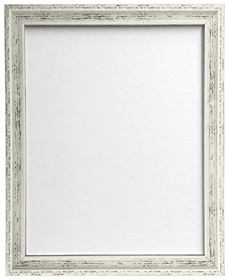 FRAMES BY POST Shabby Chic Picture Photo Frame, Distressed White, 40 ...