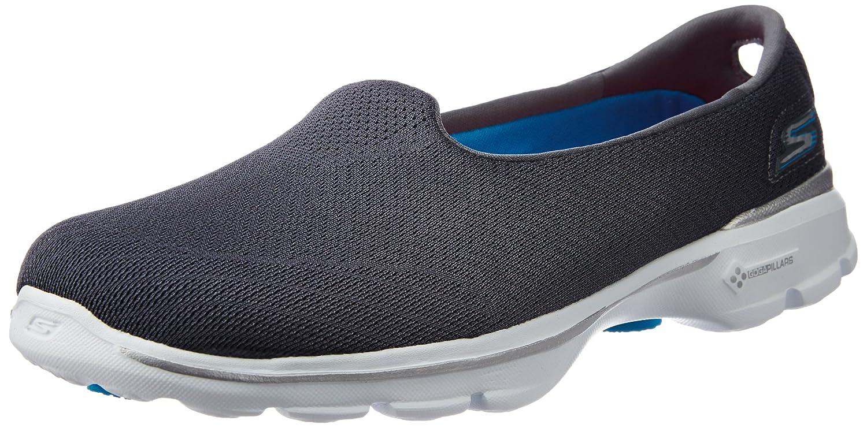 Skechers Damen Go Walk 3 Insight Sneakers Grau (Char)