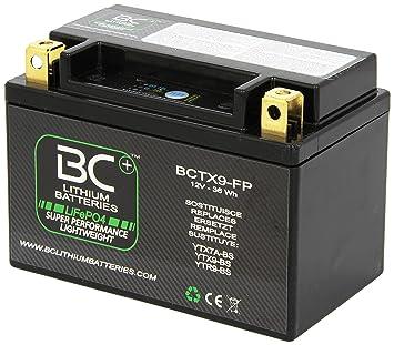 46c4c63e12b BC Lithium Batteries BCTX9-FP Batería Litio para Moto LiFePO4 HJTX9-FP /  YTX9-BS / YTR9-BS: Amazon.es: Coche y moto