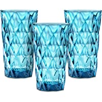Vasos de agua de cristal de Chef's Star: vasos altos de 385 ml para zumo, cócteles, cerveza, café helado – Juego de…