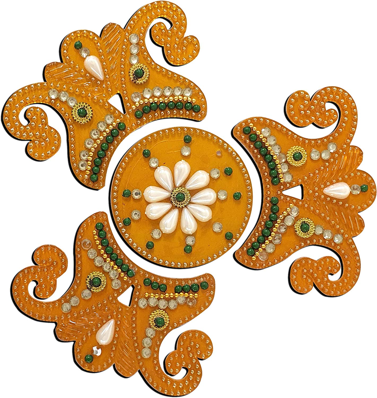 Tuelip Indian Decorations for House Readymade Rangoli Acrylic Rangoli Sticker Diwali Rangoli Acrylic