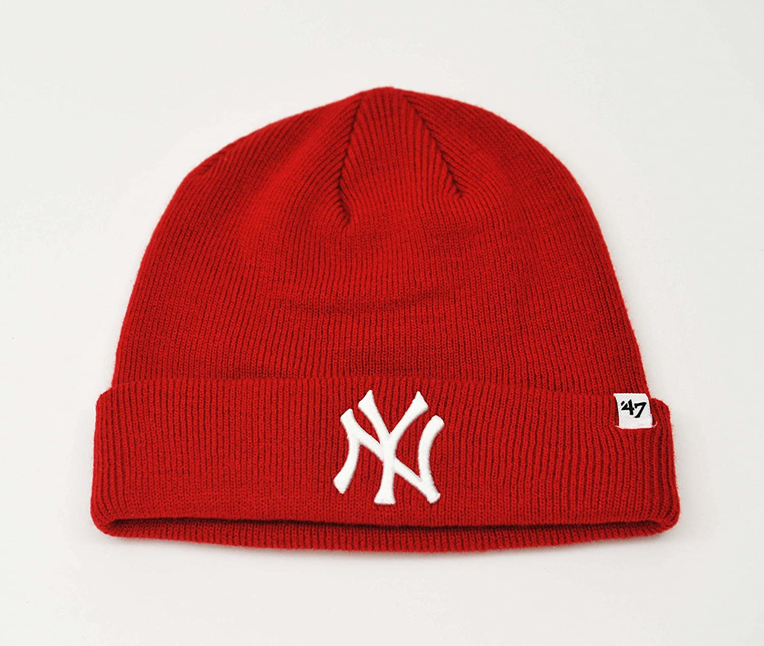 b1fbd54a4 ... coupon amazon mlb new york yankees 47 brand cuffed knit hat beanie red  sports outdoors 04b13