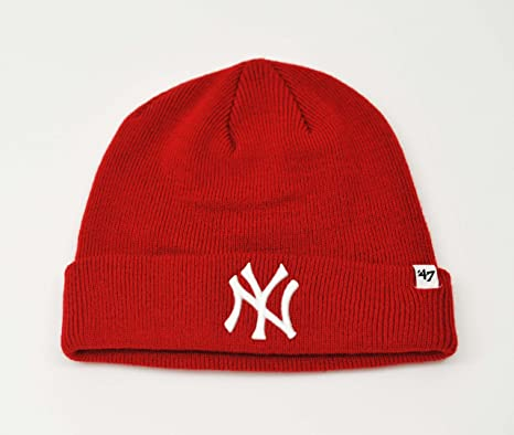 bf6849224f1 Image Unavailable. Image not available for. Color  MLB New York Yankees  47  Brand Cuffed Knit Hat Beanie ...