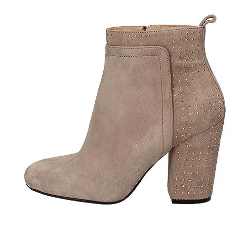GUESS Botas Botines Mujer 35 EU Beige Gamuza: Amazon.es: Zapatos y complementos