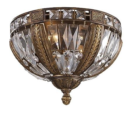 Amazon.com: Iluminación Elk 2493/4 4 luz Flush Mount plafón ...