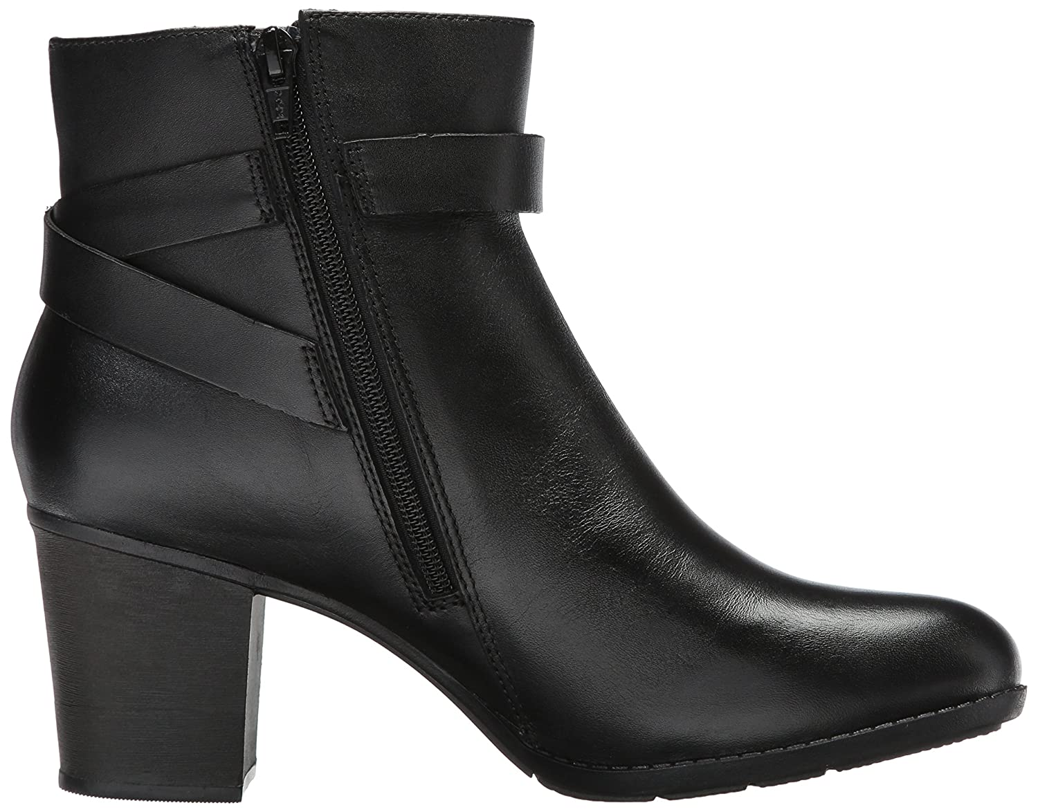 CLARKS Women's Enfield Sari Ankle Bootie Leather B01MS27W0K 6 W US Black Leather Bootie b7d19c