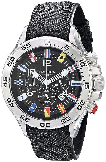 Nautica N16553G - Reloj de Pulsera Hombre, Poliuretano, Color Negro: Nautica: Amazon.es: Relojes