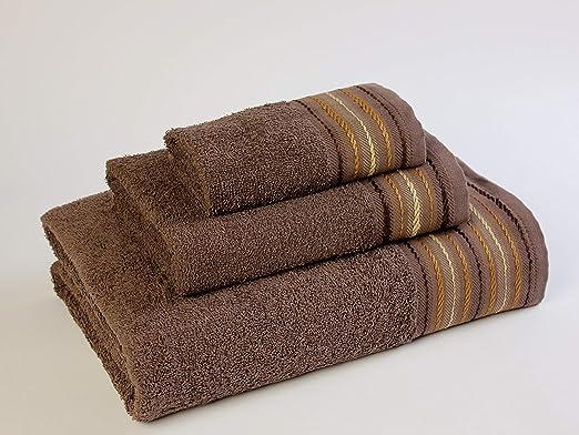Natural Ana Juego de toallas baño, Algodón, Chocolate, 30x50 ...