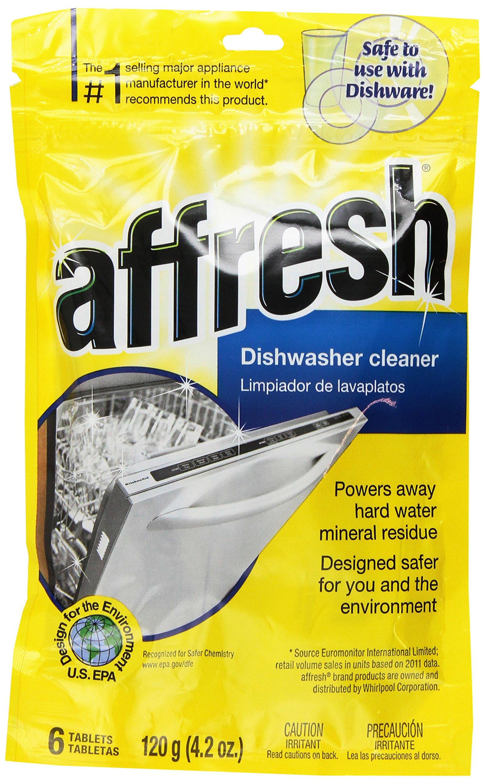 Whirlpool W10282479 Affresh Dishwasher Cleaner, 4.2 oz (3-Pack)