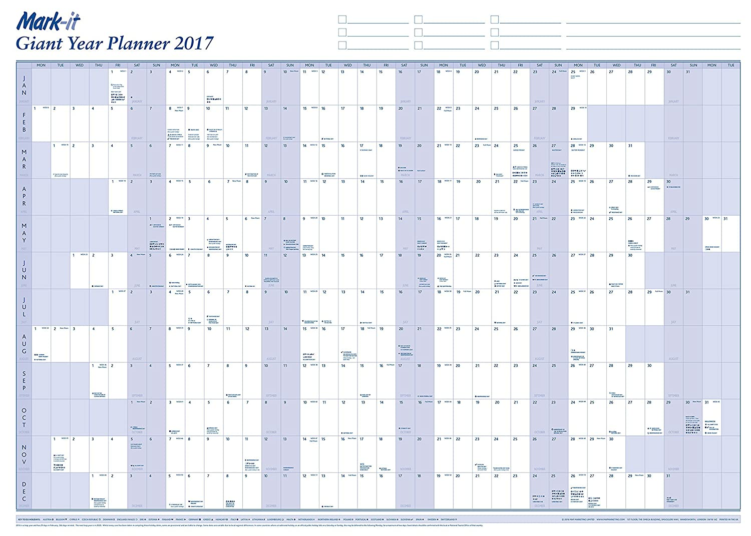 printable yearly planner 2018