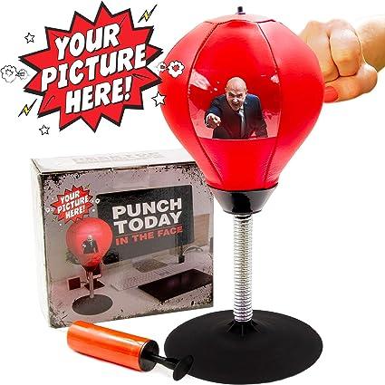 Desktop Punching Bag Stress Relief Boxing Novelty Gag White Elephant Gift NEW