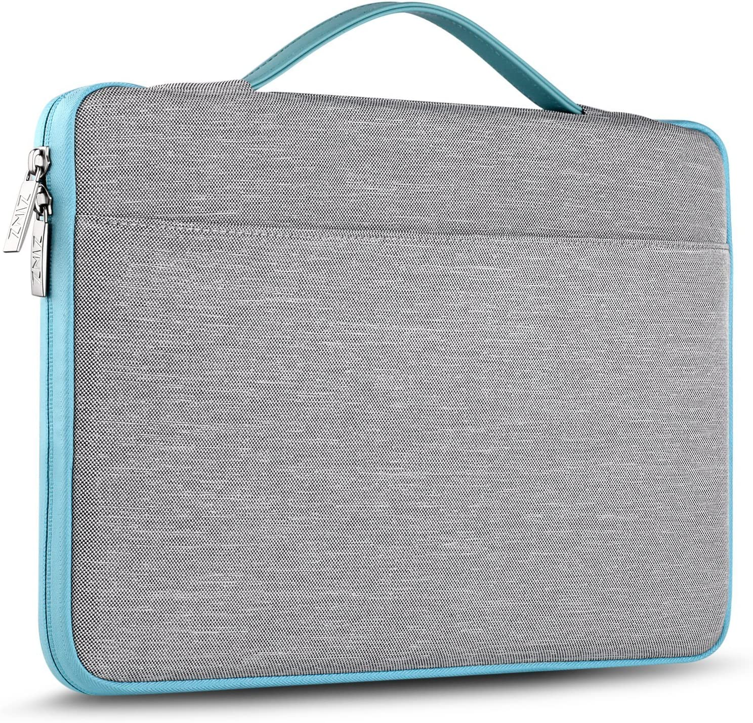 ZINZ Laptop Sleeve 14-15 Inch Case Briefcase, Compatible MacBook Pro A1990 A1707, XPS 15 Super Slim Spill-Resistant Handbag for Most Popular 14-15 inch Notebooks, Gray