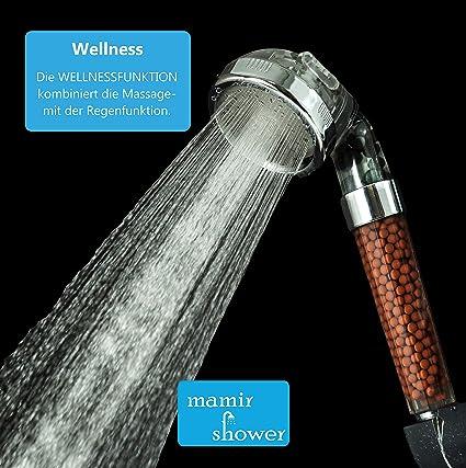 confezione doppia Mamir Shower Spa Soffione doccia con perline di ricambio
