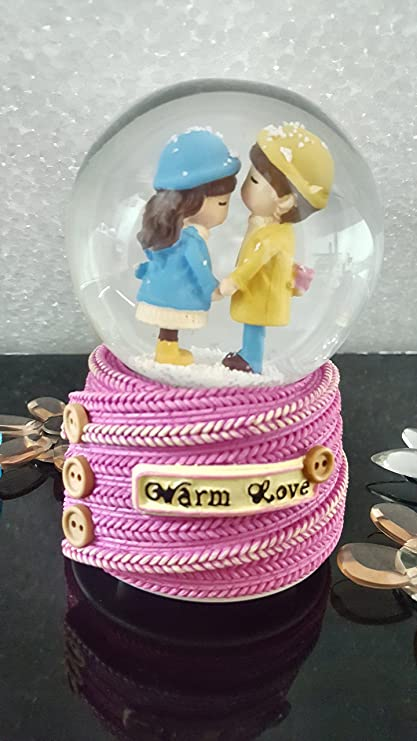 Techno E Tail Cute Couple Snow Globe Valentine Gifts For Wife Girlfriend Boyfriend Special