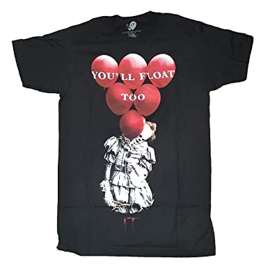 Fashion IT The Movie Youll Float Too Black Graphic T-Shirt - Small
