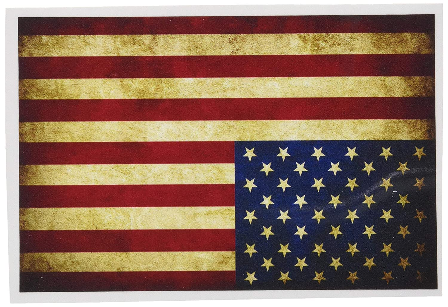 Rustic american flag decal high quality vinyl graphic bumper sticker perfect for your car truck suv rv motorcycle scooter van semi or whatever it