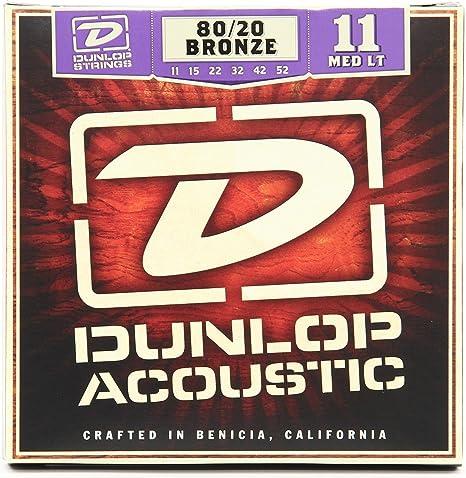 Jim Dunlop dab30 80/20 bronce Guitarra acústica (calibre 30, extra ...