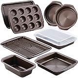 Circulon Nonstick Bakeware 10-Piece Bakeware Set, Chocolate Brown