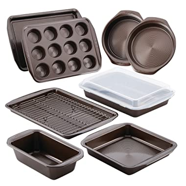 Circulon Nonstick Bakeware 10Piece Bakeware Set, Chocolate Brown