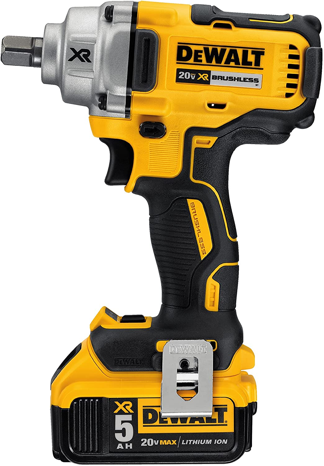 DEWALT 20V MAX XR Cordless Impact Wrench Kit with Detent Pin Anvil, 1 2-Inch DCF894P2