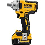 DEWALT 20V MAX* XR Cordless Impact Wrench Kit with Detent Pin Anvil, 1/2-Inch (DCF894P2)