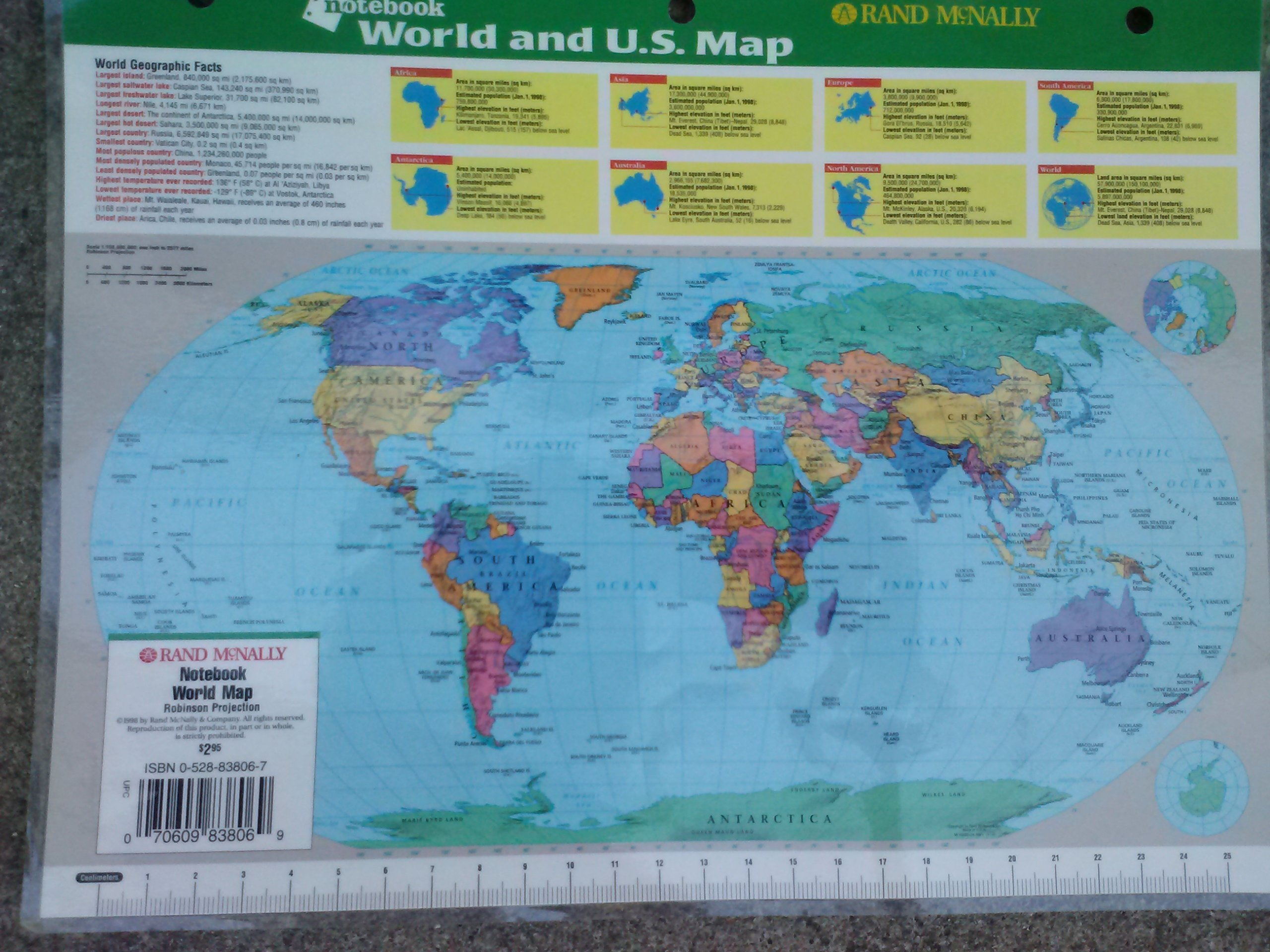 Notebook world and us map notebook series rand mcnally notebook world and us map notebook series rand mcnally 9780528838064 amazon books gumiabroncs Choice Image