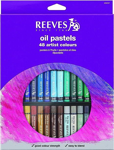 Set of 48 Large Reeves Oil Pastels