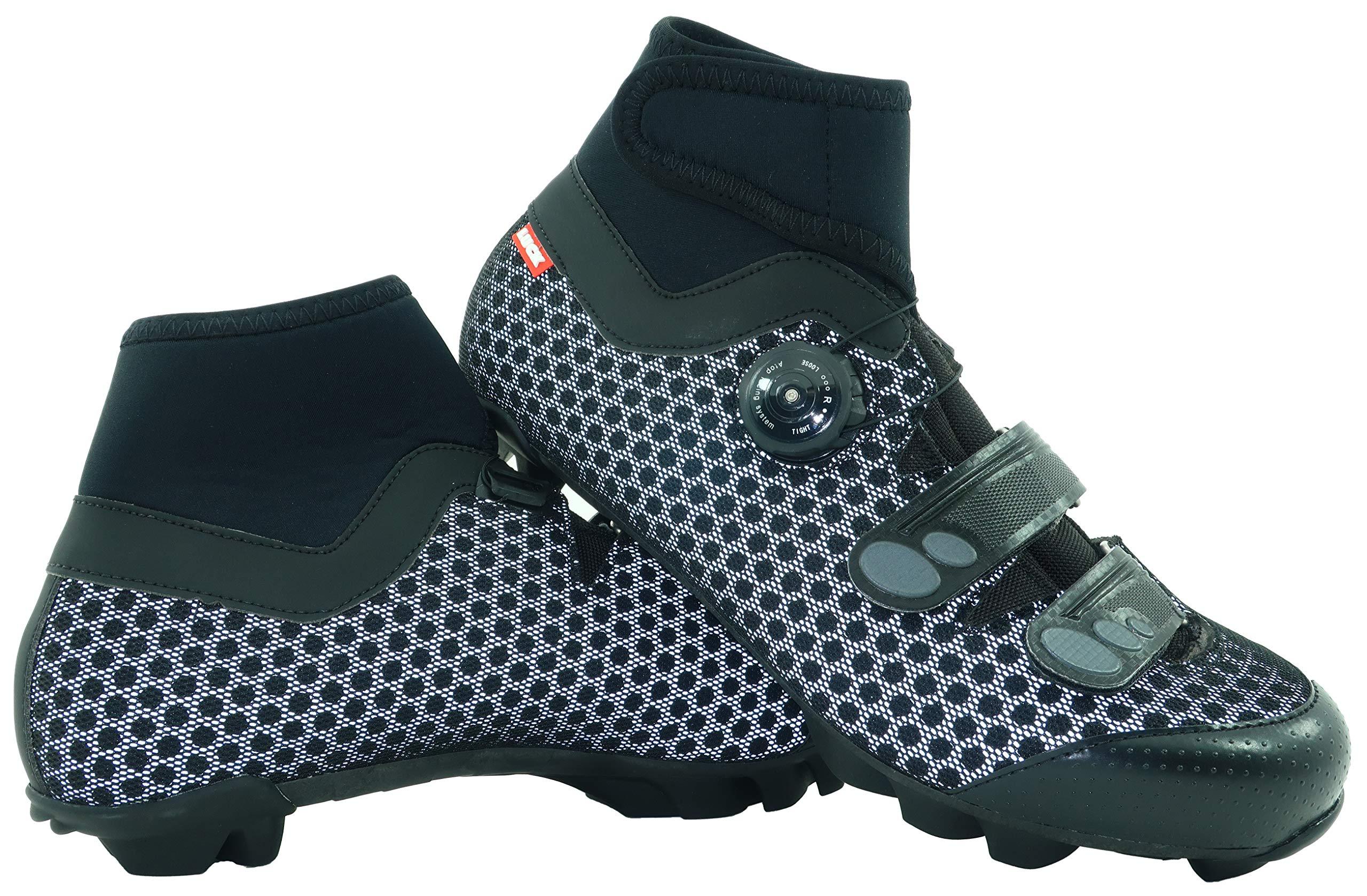 LUCK Zapatillas de Ciclismo para Invierno Winter MTB, con Suela de Carbono SHD, y