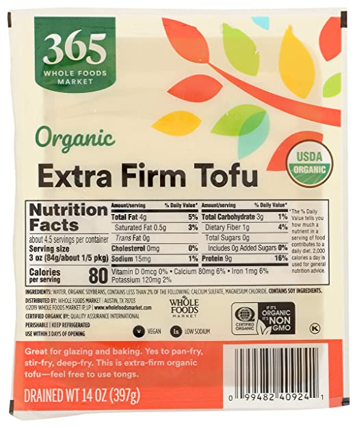 365 Tofu Extra Firm Organic, 14 Ounce