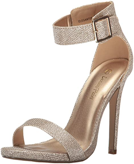 DREAM PAIRS Women's Elegantee Dress Pump, Gold Glitter, 8.5 M US