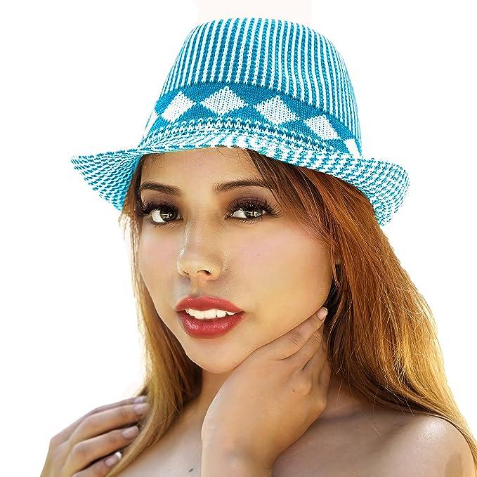 Amazon.com: Sombrero de playa para mujer de ala ancha con ...