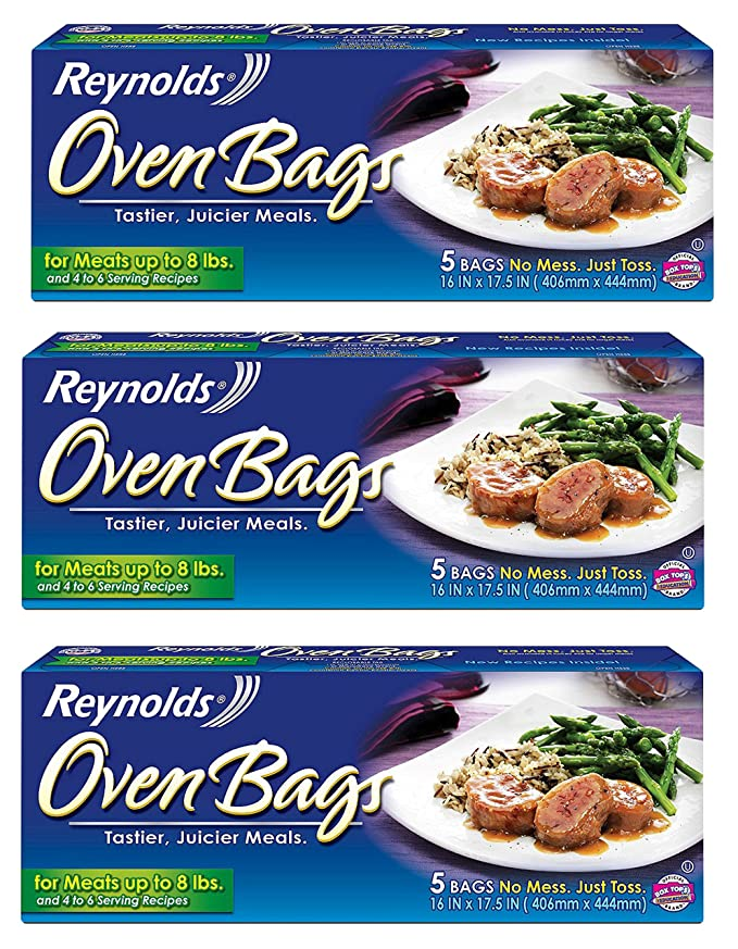 Amazon Reynold Oven Bags For Meats Up To 8 Lbs 5 Bags Pack