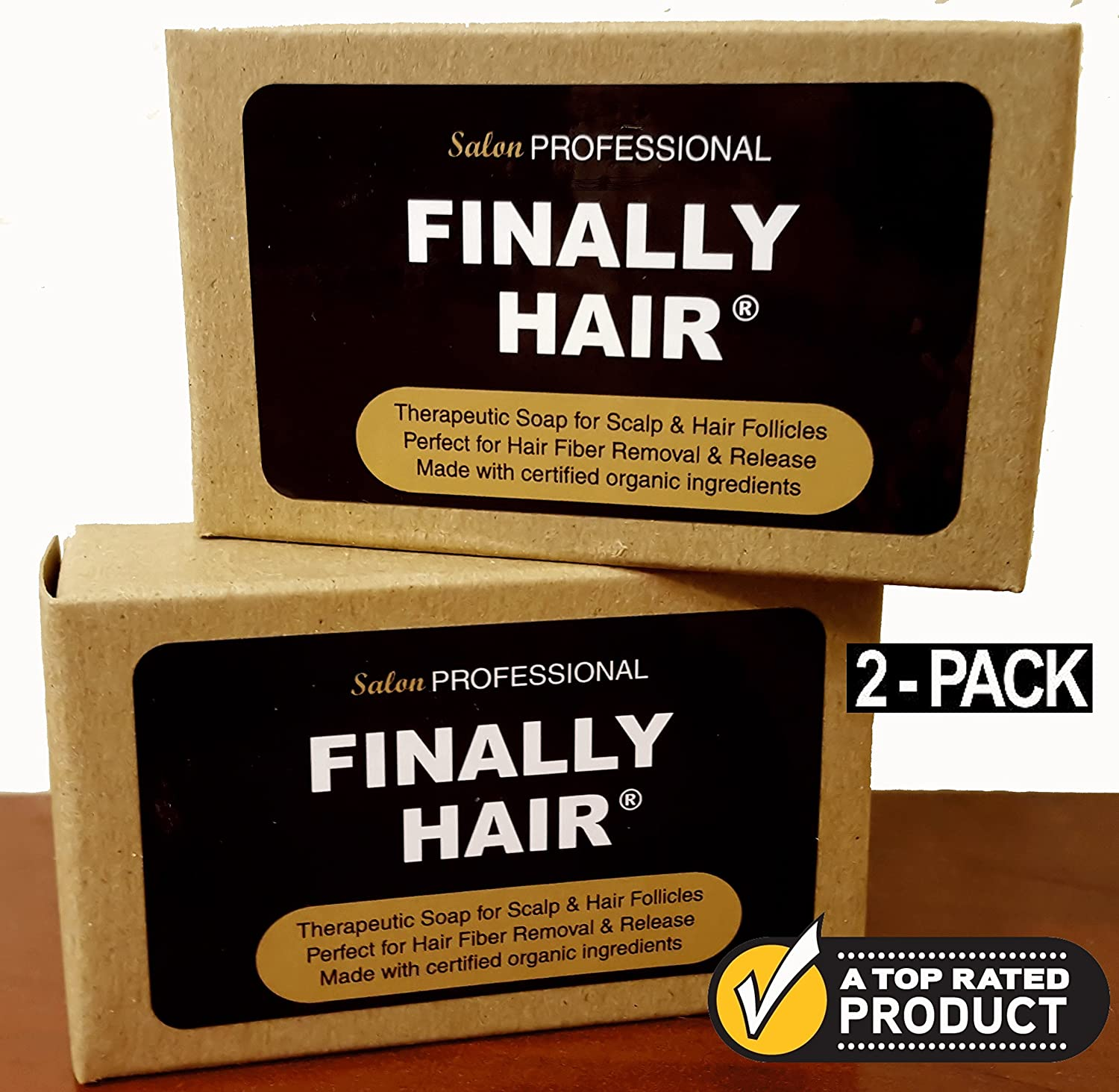 Shampoo & Conditioner Bars To Help Prevent Hair Loss. Two Therapy Bars Packed with Organic Ingredients Fight Hair Loss For Healthier Hair & Fiber Removal (2 Pack - two 4 oz bars) Finally Hair Corporation