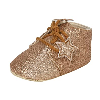 Abdc Kids Infant Boys Shinning Party Wear Brown Shoes Length 13 Cm Age