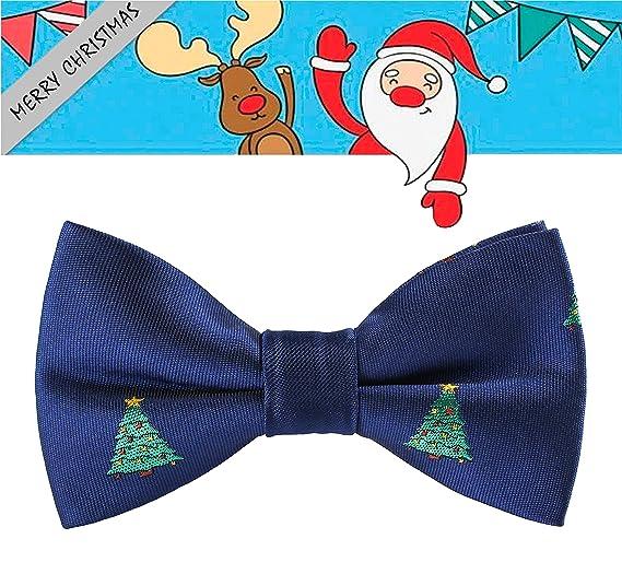 69 Boyz Christmas.Amazon Com Levao Boys Christmas Pattern Bow Ties Handmade