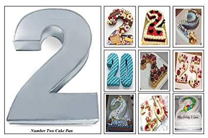 Image Unavailable Not Available For Color Small Number Two 2 Wedding Birthday Anniversary Cake Baking Pan