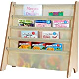 Naomi Home Kids Toy Sling Book Rack, Cream/Natural
