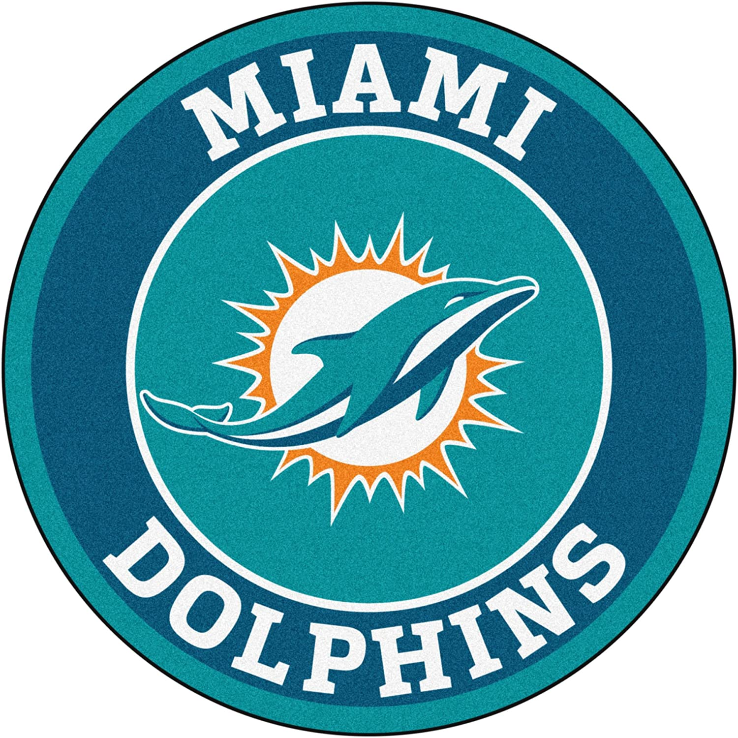 FANMATS 17964 NFL Miami Dolphins Roundel Mat